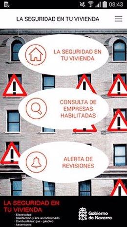 Imagen de la aplicación desarrollada por el Gobierno de Navarra