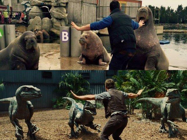Los zoos parodian de Jurassic World