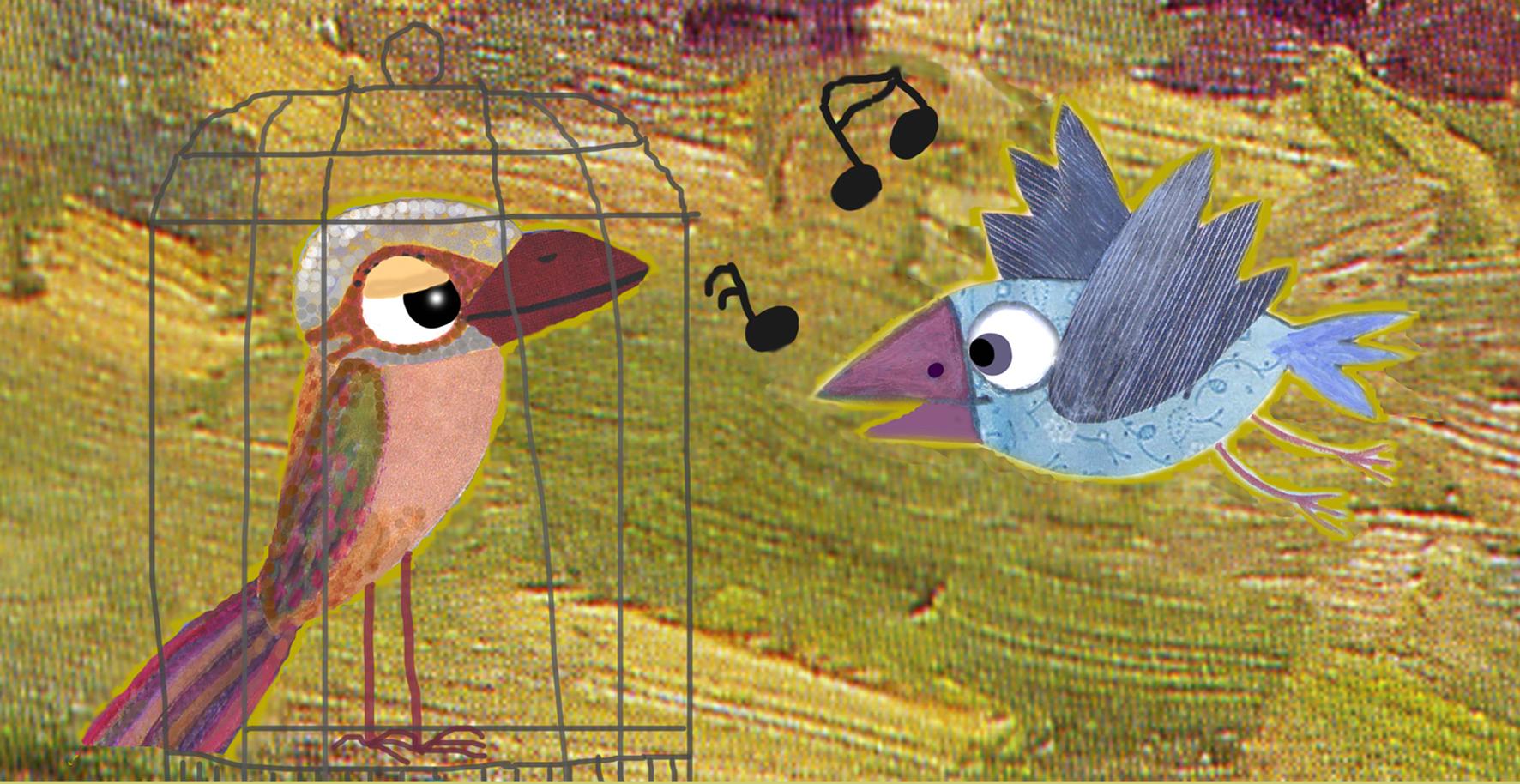 Pájaros fábula para niños