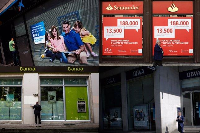 La Caixa Santander Bankia BBVA
