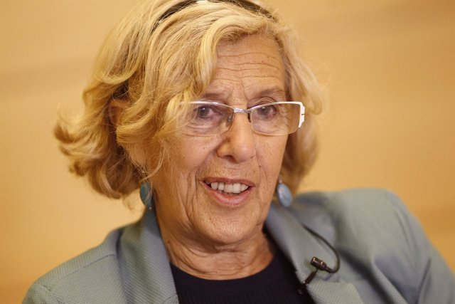 Manuela Carmena concede una entrevista a Europa Press