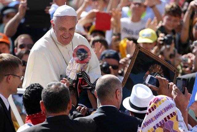 Papa Francisco en la audiencia del 3 de junio en San Pedro.