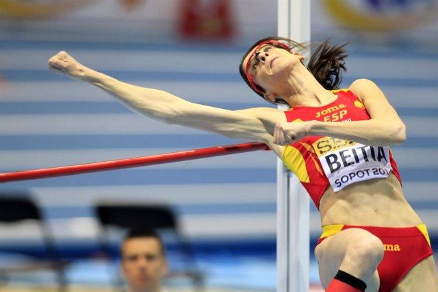 Ruth Beitia en el Mundial de Sopot de pista cubierta