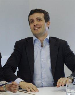 Pablo Casado a su llegada al Comité Ejecutivo del PP