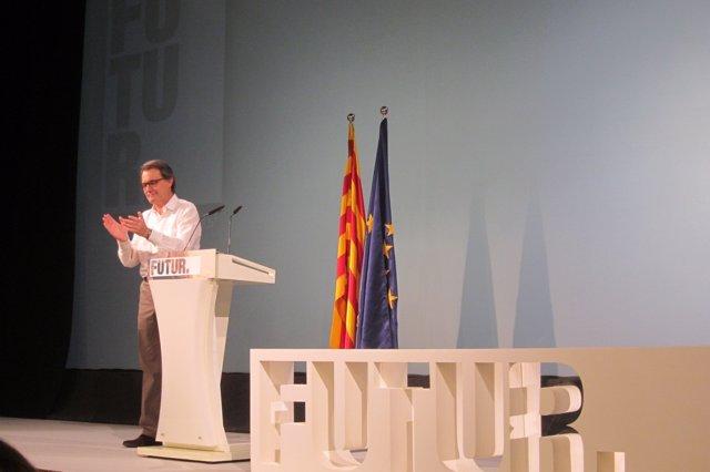Artur Mas, en la conferencia de Molins de Rei