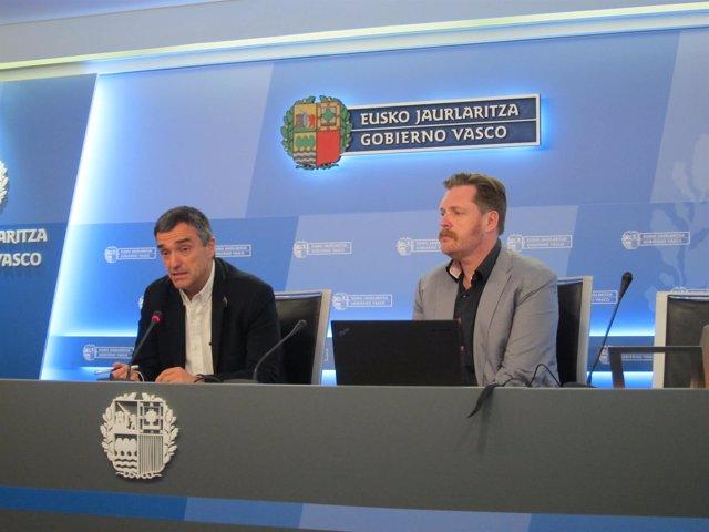 Jonan Fernández y Luis Petrikorena