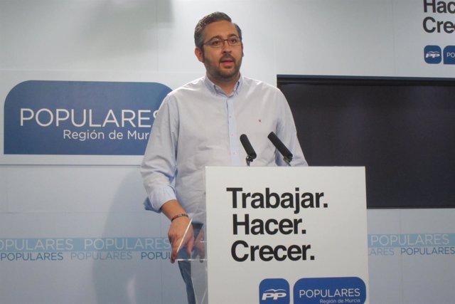 El Portavoz del PP murciano, Víctor Martínez