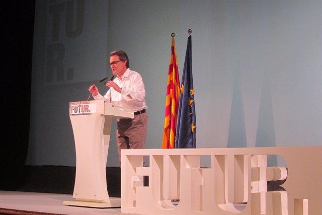 Artur Mas, en la conferencia en Molins de Rei