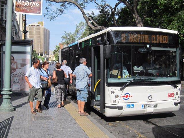Autobús, Urbano, EMT, gente, usuarios, viajeros