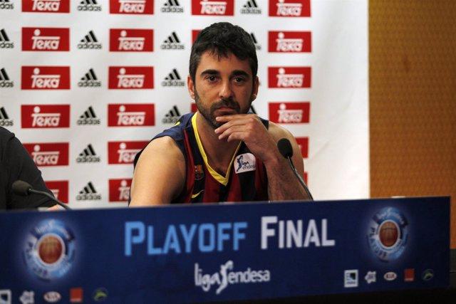 El jugador del FC Barcelona Juan Carlos Navarro