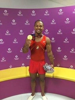 Rayderley Ray Zapata oro suelo gimnasia Bakú 2015