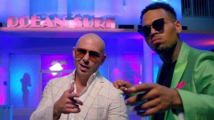 Vídeo: Pitbull, a lo 'Miami Vice', con Chris Brown en Fun, su nuevo clip