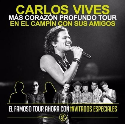Concierto especial de Carlos Vives con Marc Anthony, Wisin, Michel Teló y Chocquibtown