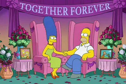 Los Simpson: Homer y Marge desmienten su ruptura (VÍDEO)