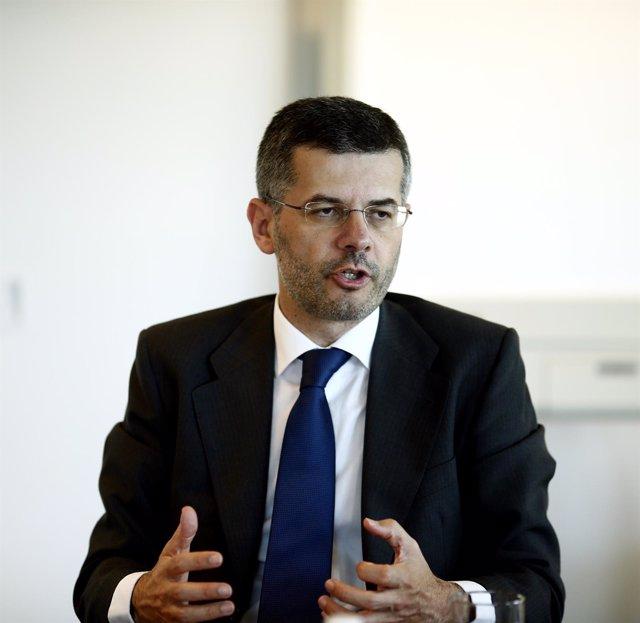 Santiago Seage, consejero delegado de Abengoa, en una entrevista a Europa Press