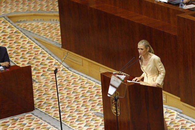Cristina Cifuentes en su discurso de investidura