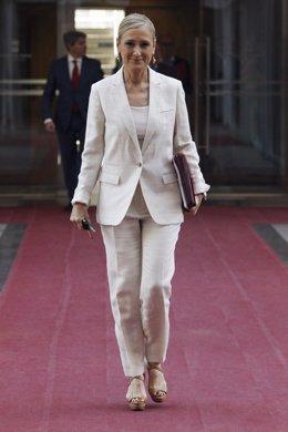 Cristina Cifuentes en el pleno de investidura de la Comunidad de Madrid