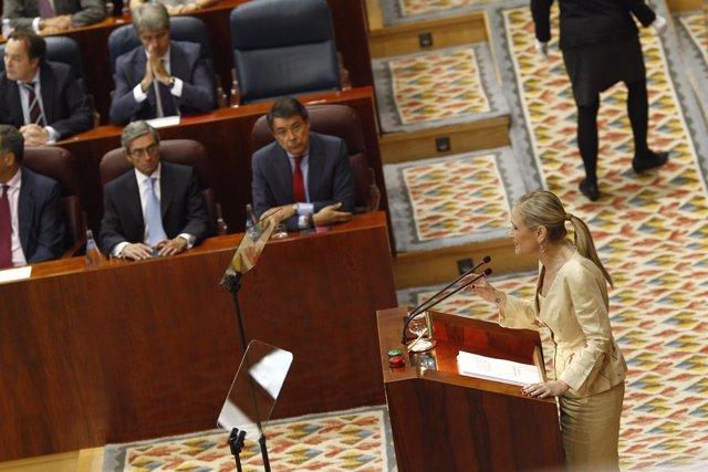 Cristina Cifuentes en su debate de investidura