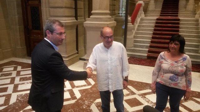 Markel Olano y Martin Garitano.