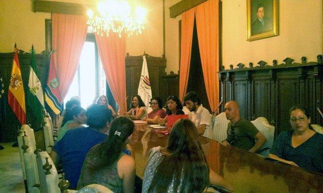 Reunión en el Ayuntamiento de Sanlúcar de Barrameda