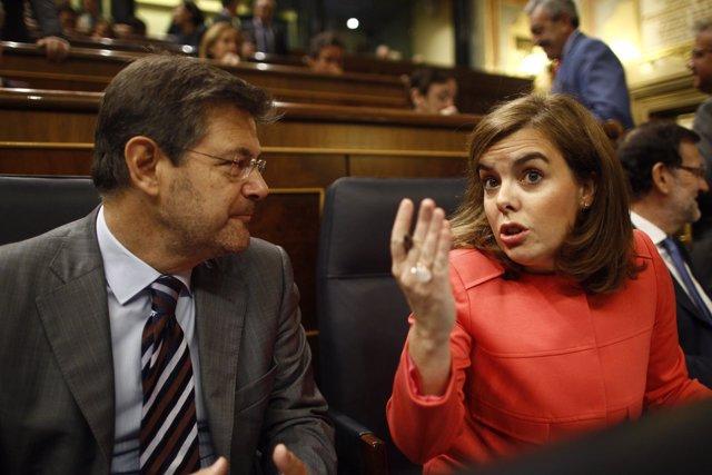 Rafael Catalá y Soraya Santamaría