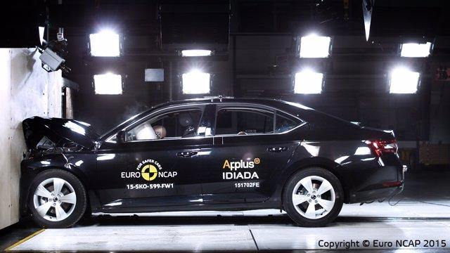 Pruebas Euro NCAP para el Skoda Superb