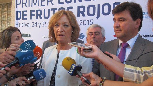 La consejera de Agricultura, Carmen Ortiz.