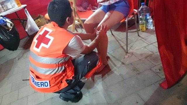 Atenciones de Cruz Roja