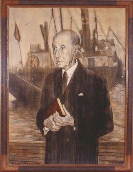 Retrato de Gerardo Diego realizado por Pelayo Ortega