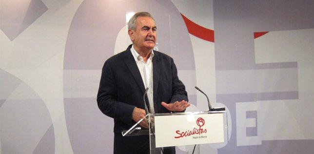 El portavoz del Grupo Parlamentario Socialista en la Asamblea,González Tovar