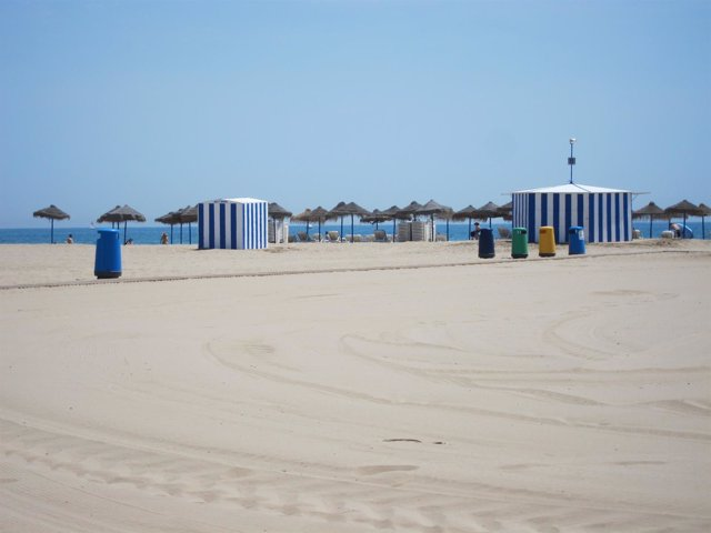 Una De Las Playas De La Ciudad De Valencia