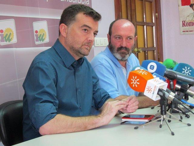El coordinador general de IULV-CA, Antonio Maíllo, en rueda de prensa.