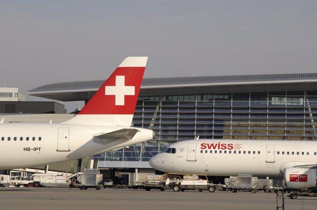 Aviones de Swiss