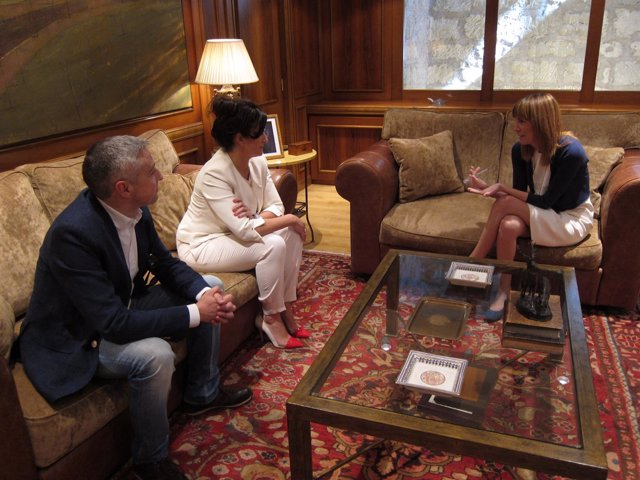 Imagen del encuentro de González y Andreu
