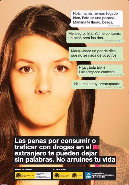 Si viajas al extranjero, no consumas ni trafiques con drogas