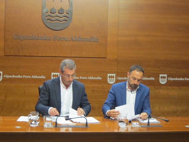 Markel Olano y Denis Itxaso.