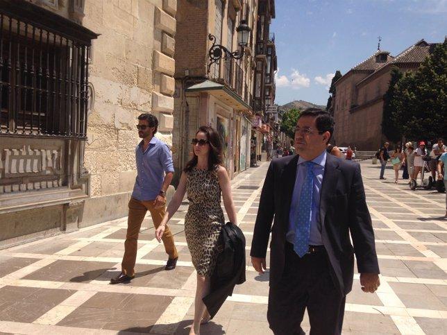 Mercedes Alaya y su marido, Jorge Castro, a su llegada al TSJA