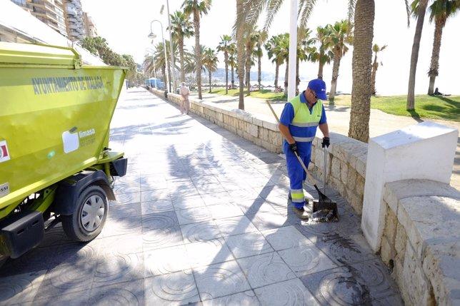 Limasa, trabajador, playa