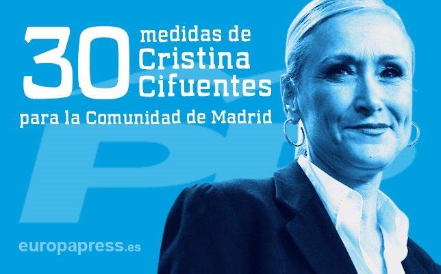 30 Medidas Cristina Cifuentes Para La Comunidad De Madrid