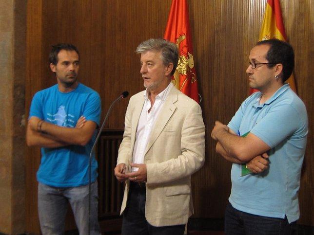 Santisteve, Cubero y el portavoz de la Plataforma de las Contratas