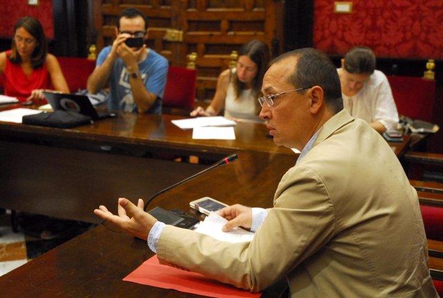 El concejal de Familia, Fernando Egea, en rueda de prensa.