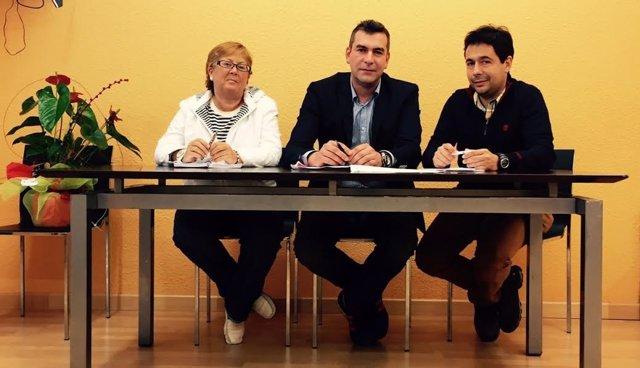 PSOE, PRC y Activa Santoña sellan un pacto de Gobierno en Santoña.
