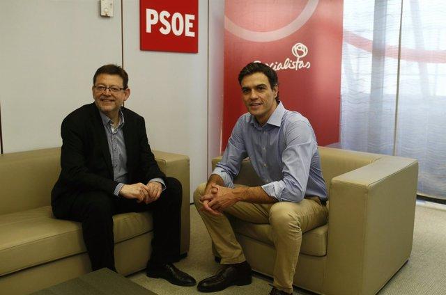 Pedro Sánchez con Ximo Puig en una imagen de archivo