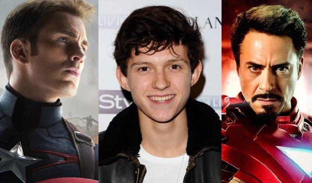 Tom Holland, Capitán América y Iron Man