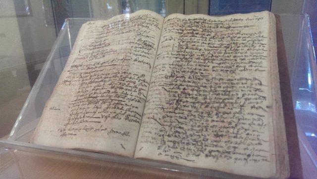 Documento de 1556 en el Archivo Municipal de Málaga