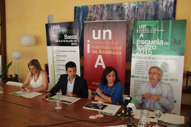 Presentación de la programación  Escuela de Teatro de la UNIA