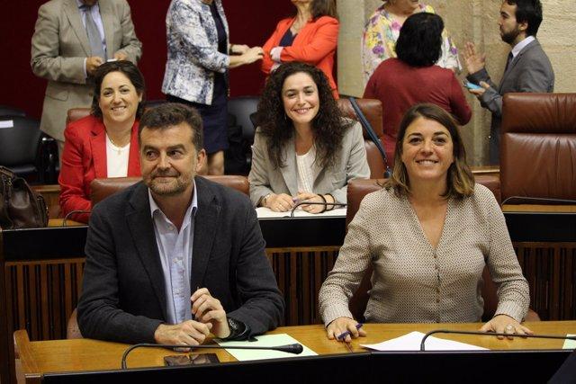 Diputados de IU en la Cámara andaluza