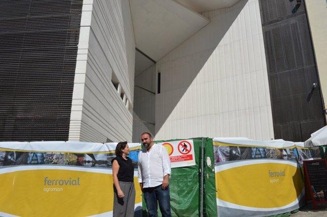 María del Carmen Pérez y Francisco Puentedura en el Centro Lorca