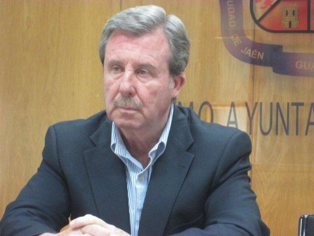 García Anguita en la rueda de prensa en la que pidió disculpas