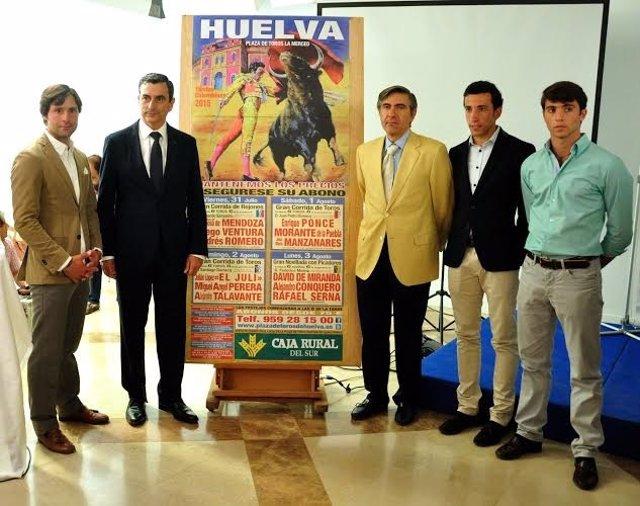 Los empresarios taurinos Carlos Pereda y Óscar Polo presentan cartele Colombinas